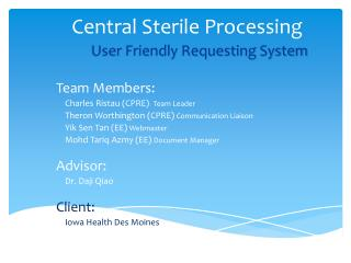 Central Sterile Processing