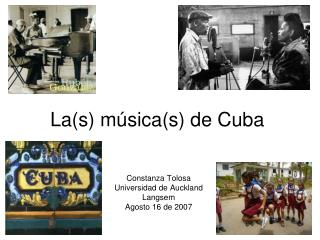 La (s) música(s) de Cuba