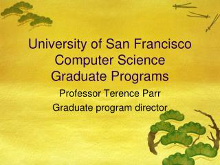 University of San Francisco Computer Science Graduate Programs