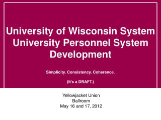 Yellowjacket  Union Ballroom May 16 and 17, 2012