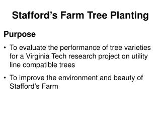 Stafford's Farm Tree Planting