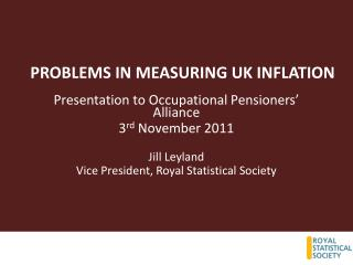 PROBLEMS IN MEASURING UK INFLATION