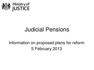 Judicial Pensions