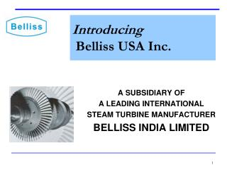 Introducing Belliss USA Inc.