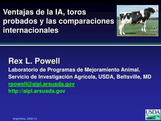 Ventajas de la IA, toros probados y las comparaciones internacionales