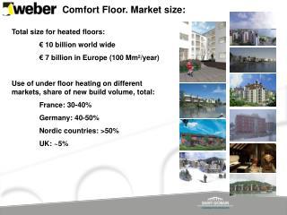 Comfort Floor. Market size: