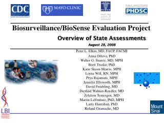Biosurveillance/BioSense Evaluation Project