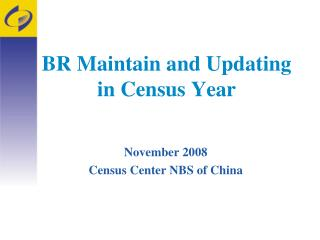 BR Maintain and Updating  in Census Year