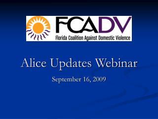 Alice Updates Webinar