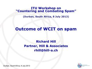 Outcome of WCIT on spam