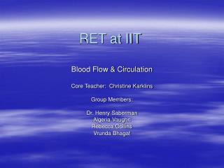 RET at IIT
