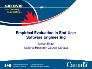 Empirical Evaluation in End-User Software Engineering