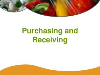 Purchasing and Receiving