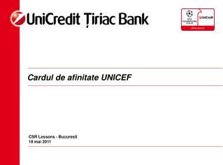 Cardul de afinitate UNICEF