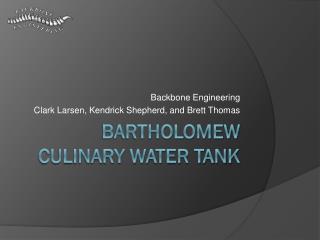 Bartholomew Culinary Water Tank