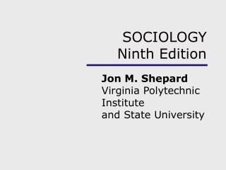 SOCIOLOGY  Ninth Edition