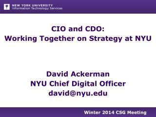 Winter 2014 CSG  Meeting