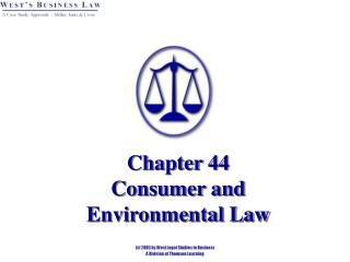 Chapter 44 Consumer and  Environmental Law
