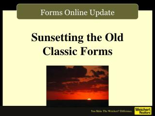 Forms Online Update