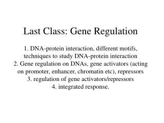 Posttranscriptional Regulations