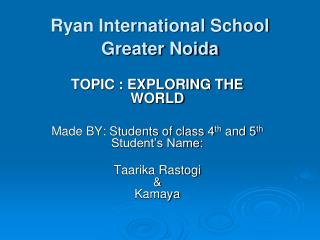 Ryan International School Greater Noida