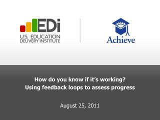 How do you know if it's working? Using feedback loops to assess progress