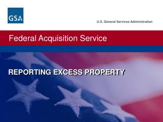 REPORTING  EXCESS PROPERTY