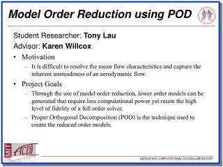 Model Order Reduction using POD