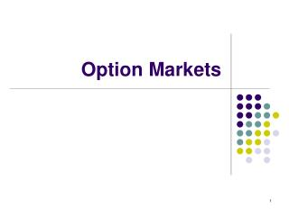 Option Markets
