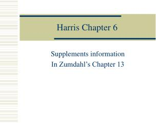 Harris Chapter 6
