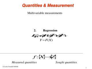 Multivariable measurements