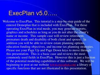 ExecPlan v5.0…..