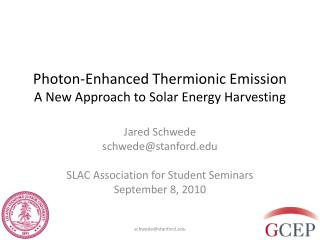 Photon-Enhanced Thermionic Emission A New Approach to Solar Energy Harvesting