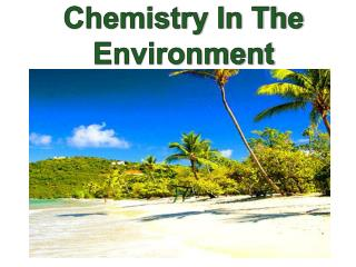 Chemistry In The Environment
