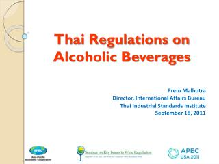 Thai Regulations on Alcoholic Beverages