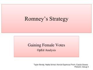 Romney's Strategy