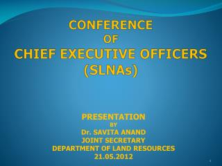 CONFERENCE  OF CHIEF EXECUTIVE OFFICERS ( SLNAs )