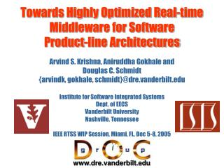 Towards Highly Optimized Real-time Middleware for Software  Product-line Architectures