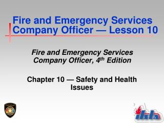 Fire and Emergency Services Company Officer  —  Lesson 10