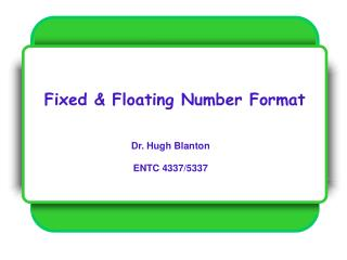 Fixed & Floating Number Format