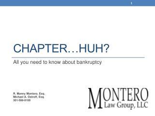 Chapter…huh?