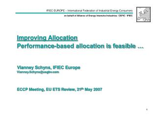 ECCP Meeting, EU ETS Review, 21 th  May 2007