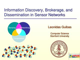 Information Discovery, Brokerage, and Dissemination in Sensor Networks