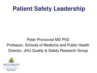 Patient Safety Leadership
