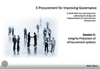 Session  5: Integrity Protection of eProcurement systems