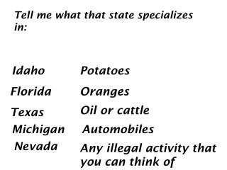 T ell  me what that state specializes in: