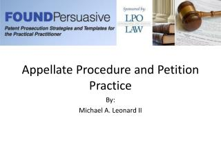 Appellate Procedure and Petition Practice