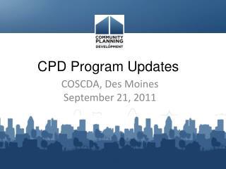 CPD Program Updates