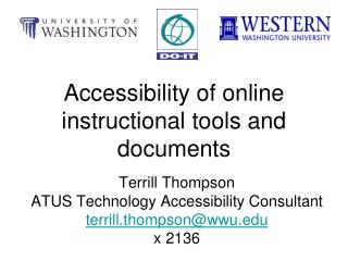 Accessibility of online instructional tools and documents