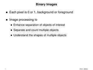 Binary Images